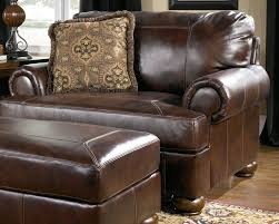 cool leather chair and a half with ottoman for your famous chair