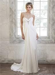 empire wedding dress illusion neckline empire waist chiffon tulle wedding dress