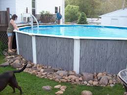 Landscaping Around Pool Best 25 Above Ground Pool Landscaping Ideas On Pinterest