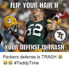 Hair Flip Meme - flip your hair if your defense is trash mematicnet packers defense