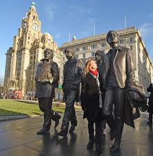 beatles statue unveiled on liverpool waterfront liverpool echo