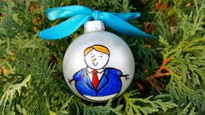 personalized donald trump snowman christmas ornament hand