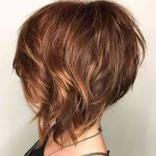 layered hairstyles 50 50 graduated graphics of short simple stylish haircut