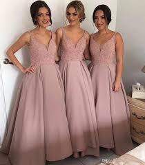bridesmaid dresses glamorous light pink blush bridesmaid dresses beaded satin