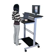 rolling stand up desk standing rolling desk mobile standing workstation stand up desk