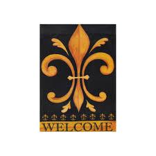 Welcome Flag Welcome Fleur De Lis Garden Flag 08011 Mardigrasoutlet Com