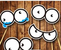 Photo Booth Prop Ideas 4 Different Round Eyes Diy Photo Booth Props Wedding Party