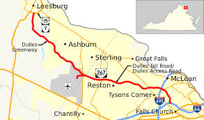 Washington Dc Airports Map by Virginia State Route 267 Wikipedia
