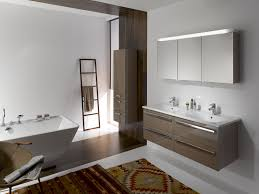 bathroom awesome white brown wood glass stainless rustic design
