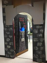 my had a door decorating contest for the book fair the