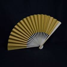 paper fans bulk 9 gold paper fans for weddings premium paper stock 10 pack