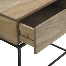 Accent Table With Drawer Industrial Storage Side Table West Elm