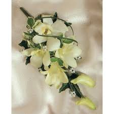White Orchid Corsage Wedding