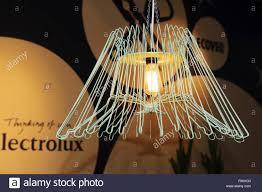 designer lamp a designer lamp made using coat hangers in wasbar in ghent