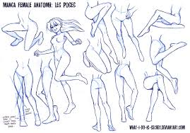 How To Draw Female Anatomy Manga Female Leg Poses By What I Do Is Secret On Deviantart