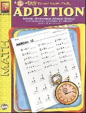 timed math drills addition 004249 details rainbow resource