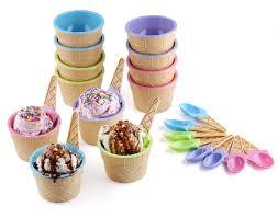 amazon com greenco vibrant colors ice cream dessert bowls and