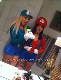 Popular Halloween Costumes Teen Girls Mario Luigi Girly Style Costumes Halloween Costume Contest