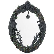 mother maiden crone wall mirror pagan wiccan home decor