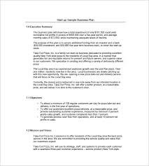 business plans samples simple small business plan samples