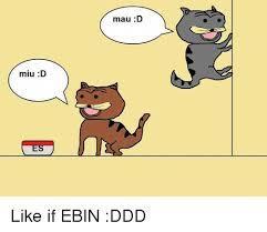 Ebin Meme - miu d mau d like if ebin ddd dank meme on me me