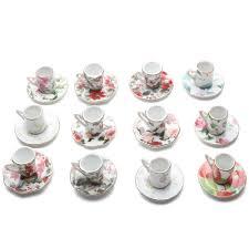porcelain tea cup teacup ornaments 12 assorted floral chintz roses