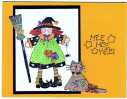 halloween witch handmade good greeting supply card u2013 sharpharmade