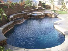 Backyard Swimming Pool Landscaping Ideas Images About Pools On Pinterest Fiberglass Beach Entry Pool And
