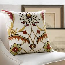 embroidered pillow cover reviews birch