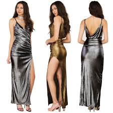 maxi long dress spaghetti strap v neck sleeveless backless jumper
