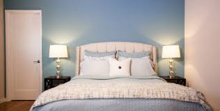 Blue Accent Wall Bedroom by Pop Of Color Transform Your Home To Welcome Spring