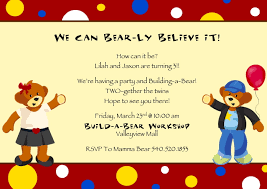Halloween Party Invite Poem Build A Bear Party Invitation Birthday Ideas Pinterest Party