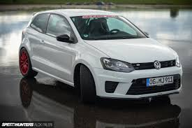 volkswagen polo white colour modified a bodybuilder with a baby face the seebacher polo r wrc clubsport
