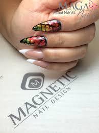 foil nail art reptil magnetic nail nail art pinterest