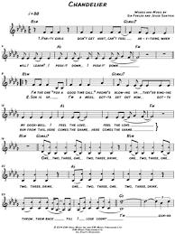 Sia Chandelier Free Sia Chandelier Sheet Leadsheet In Bb Minor Transposable
