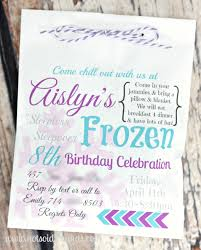 frozen birthday party invitation vertabox com