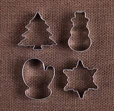 mini cookie cutter set with mini snowman cookie cutter