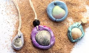 seashell necklace an easy clay jewelry craft moms and crafters