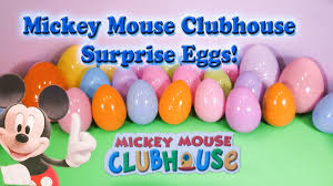 Mickey Mouse Easter Eggs Opening Mickey Mouse Eggs And Toys With The Assistant