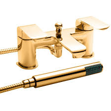 hero bath shower mixer modern in gold by dorato