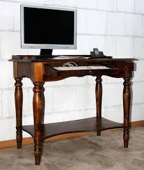 Schreibtisch Pc Sekretär 100x80x60cm Tastaturauszug Schublade Ablageboden