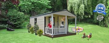 premier cabin and front porch bennett building systems