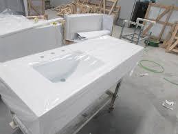 Quartz Vanity Tops Nq2001x Pure White Quartz Vanity Tops Benyee Quartz Engineered