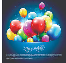 free birthday greetings happy birthday balloons of greeting card vector 06 vector