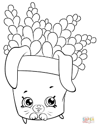 creamy cookie cupcake shopkin coloring page free printable