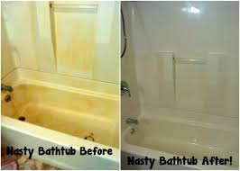 Yellow Bathtub 13 Simple Bathtub Cleaning Tips For Totally Gunky Tubs
