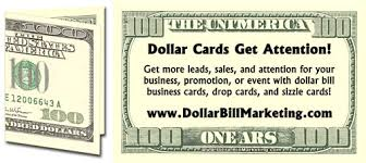 100 dollar business card dollar bill marketing by willie crawford