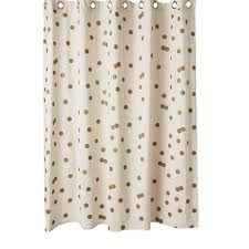 Brown And Gold Shower Curtains Brown And White Polka Dot Curtains Size Marvelous Drawing
