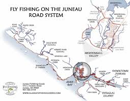 Alaska Road Map by Juneau Classes Events And More Juneau Alaska Fly Fishing Goods