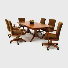 kitchen table with caster chairs kitchen table sets with rolling chairs